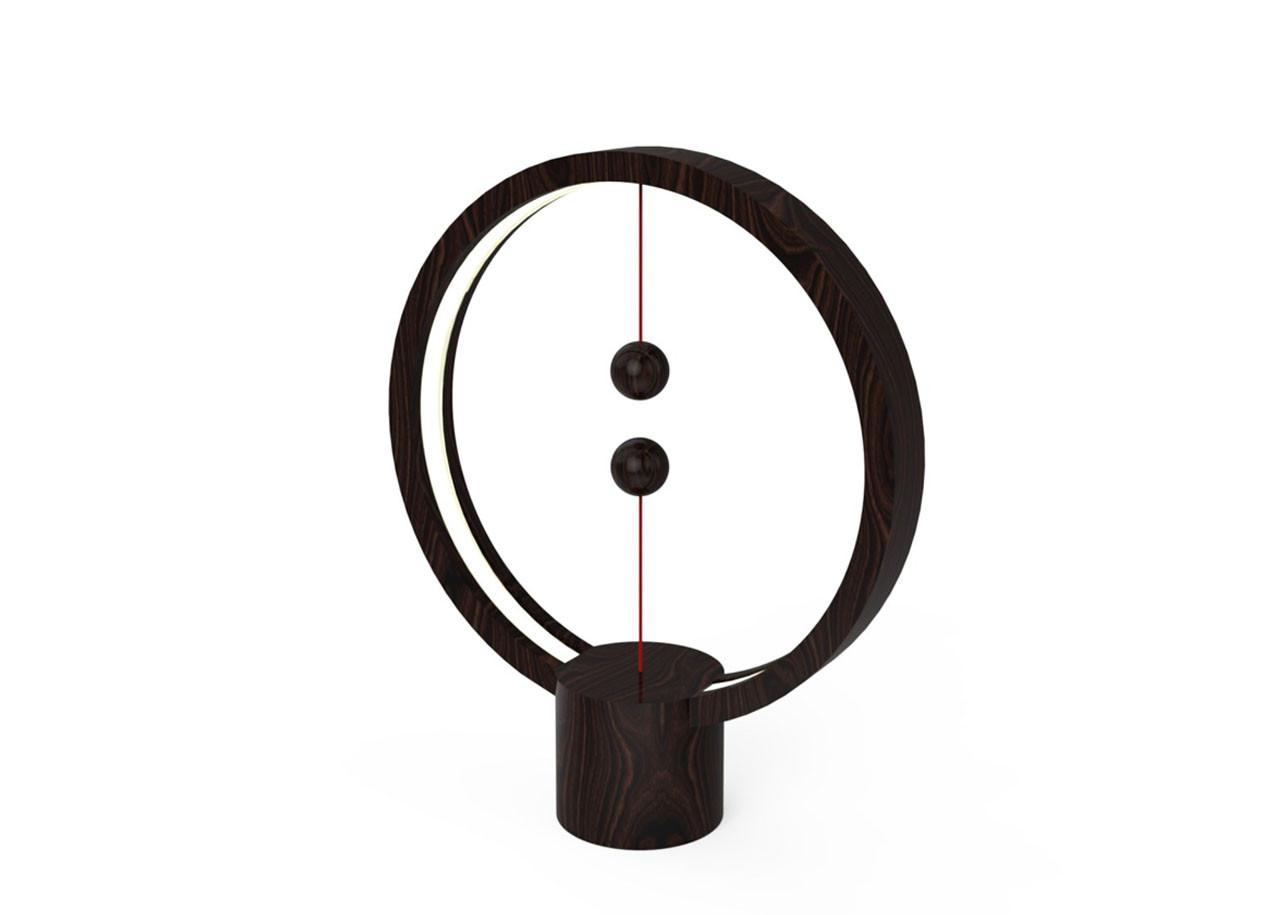 LED лампа Heng Balance DH0039DW - Кръг - USB - Дърво тъмно