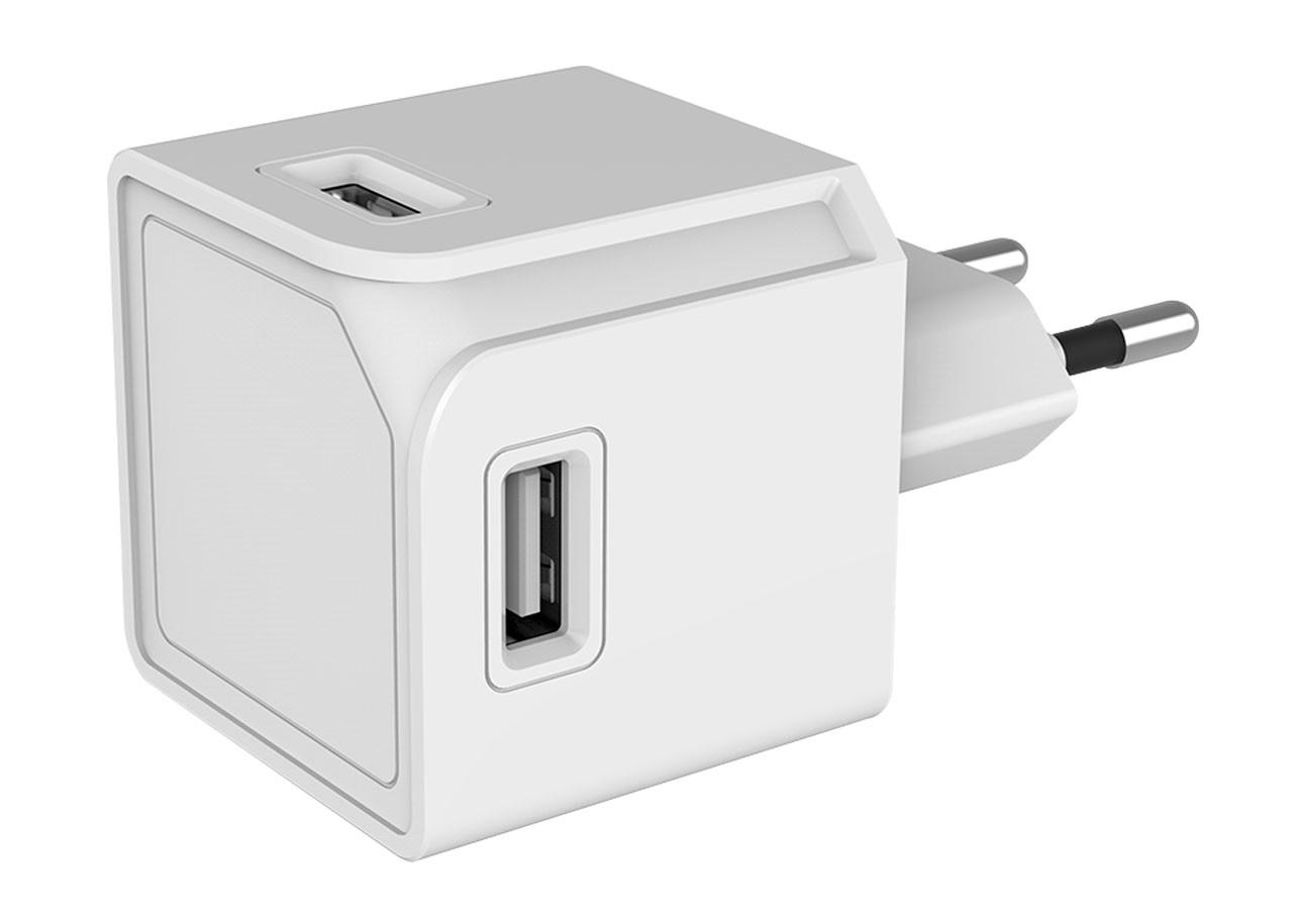 USBcube 10465WT 4 x USB-A; БЯЛ