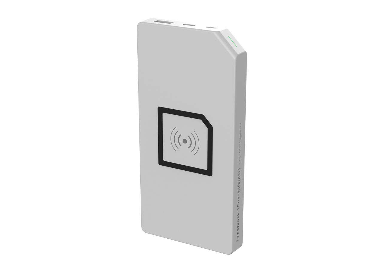 PowerBank Slim Duo-Wireless 10838WT Алуминий 8000mAh БЯЛ