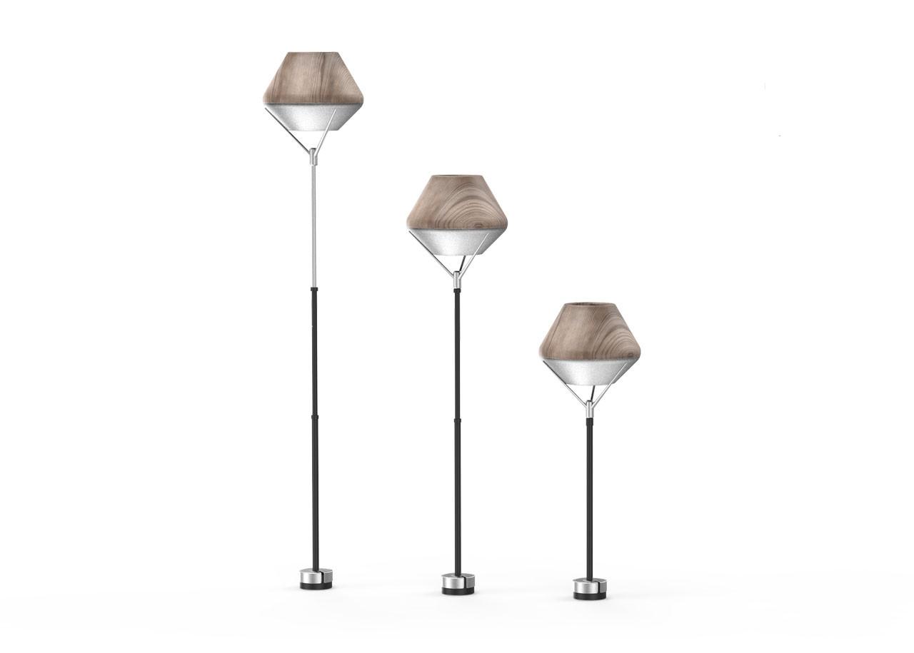 Лампа LightShade Tulip Стояща СЕТ 10420DW;  ТЪМНО ДЪРВО