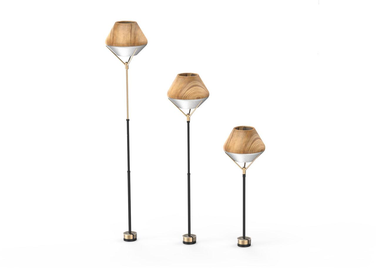 Лампа LightShade Tulip Стояща СЕТ 10420LW; СВЕТЛО ДЪРВО