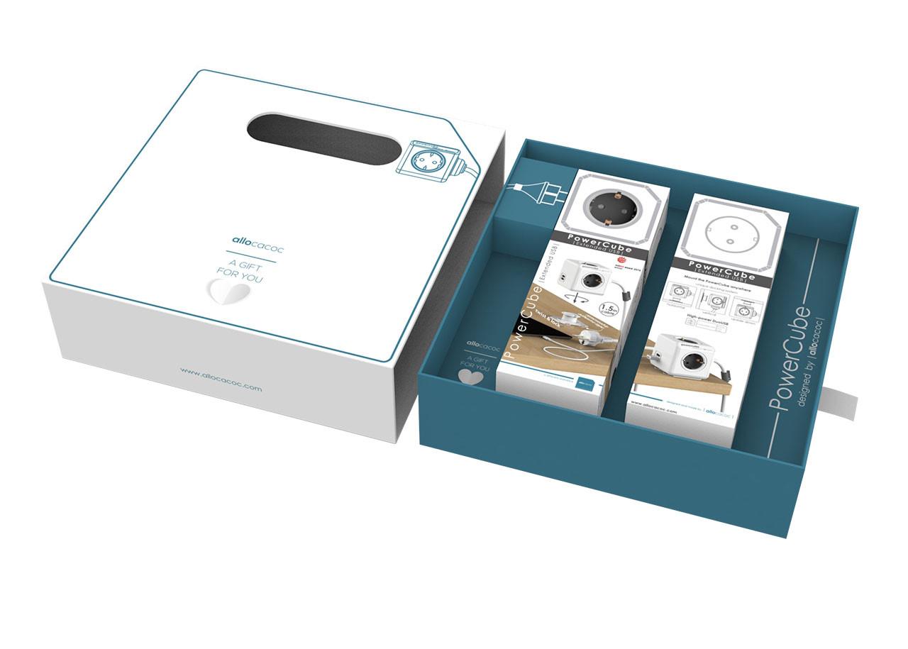 Кутия за подарък PowerCube - двойна