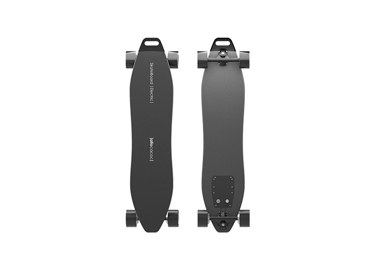 SkateBoard Electric Черен