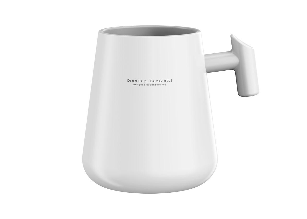 Чаша DropCup Mug + дръжка 290мл 10691GY; СИВ
