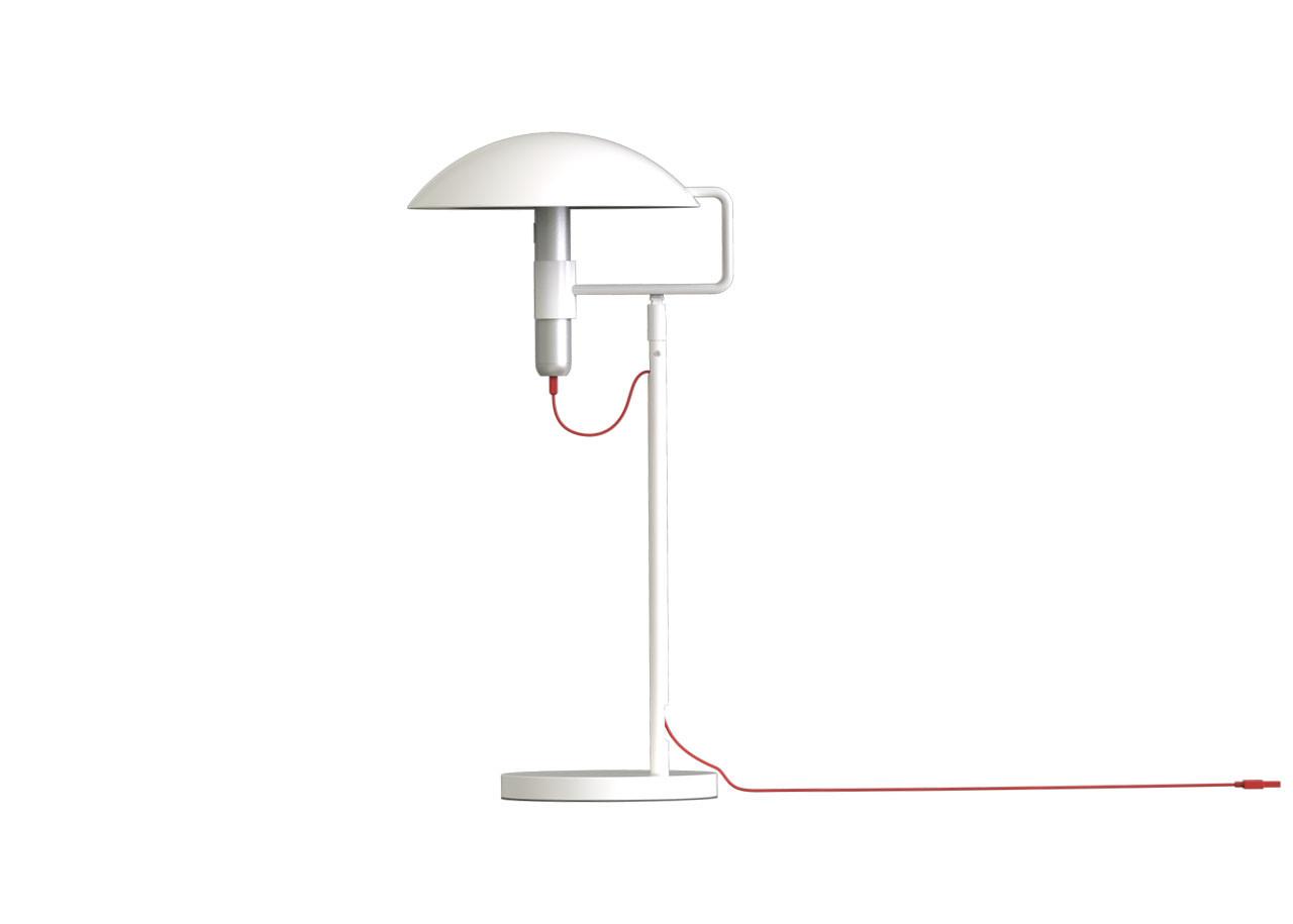 Настолна лампа 10844WT комплект - Бяла със Студена светлина