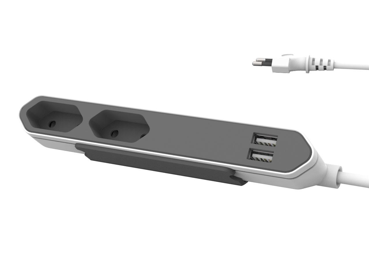Разклонител Power Bar 9102 2гн/usb