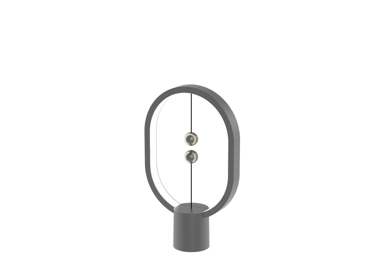 LED лампа Heng Balance Mini DH0098DG - Елипса - Пластмаса - USB C - Тъмно сива