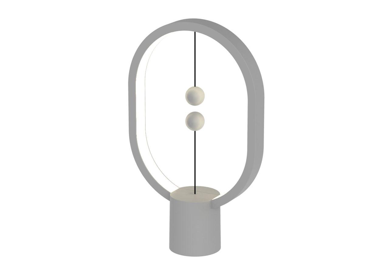 LED лампа Heng Balance Mini DH0098LG - Елипса - Пластмаса - USB C - Светло сива