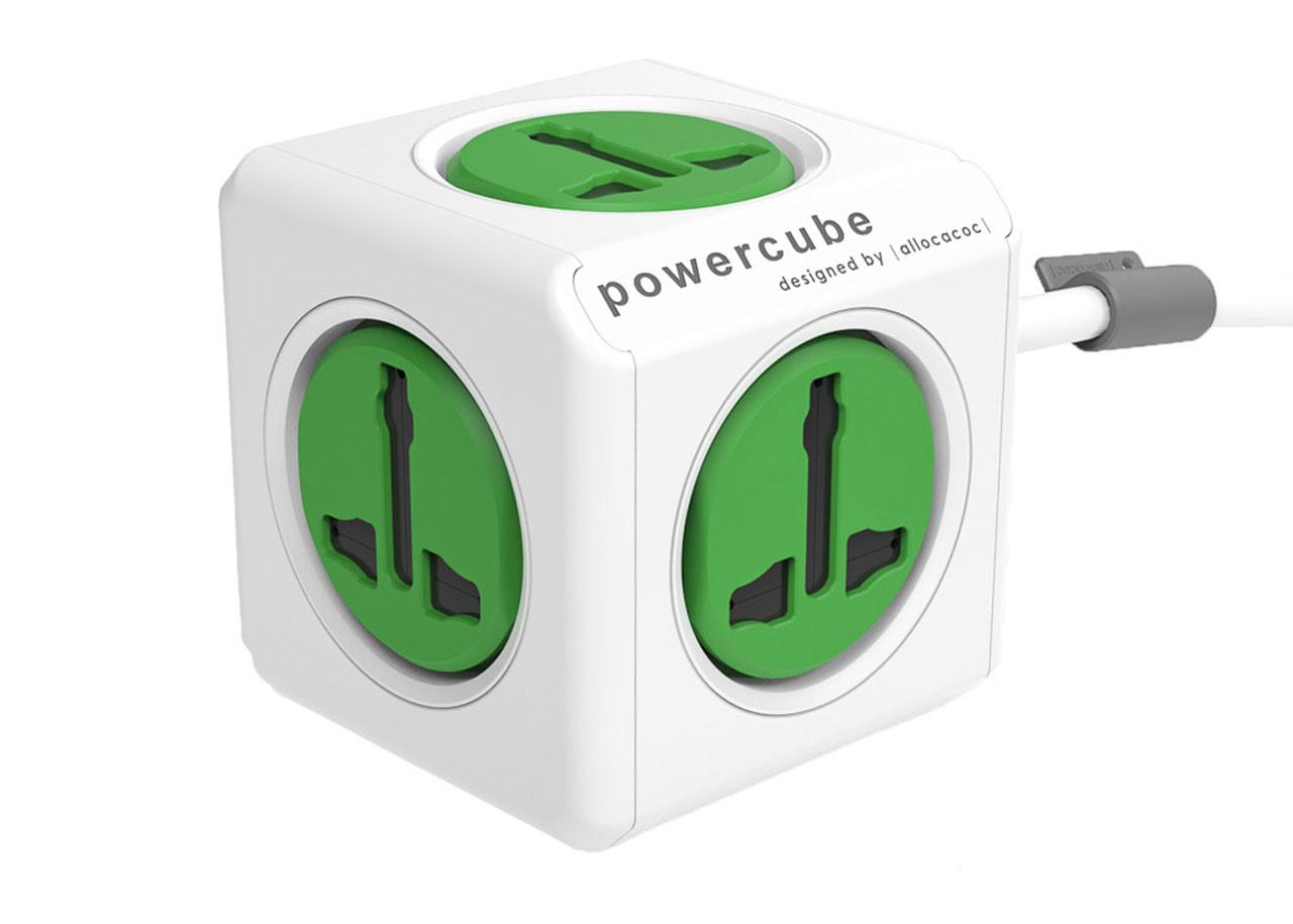 Универсален Разклонител Power Cube 10532GN - 5 гнезда - 1.5м кабел