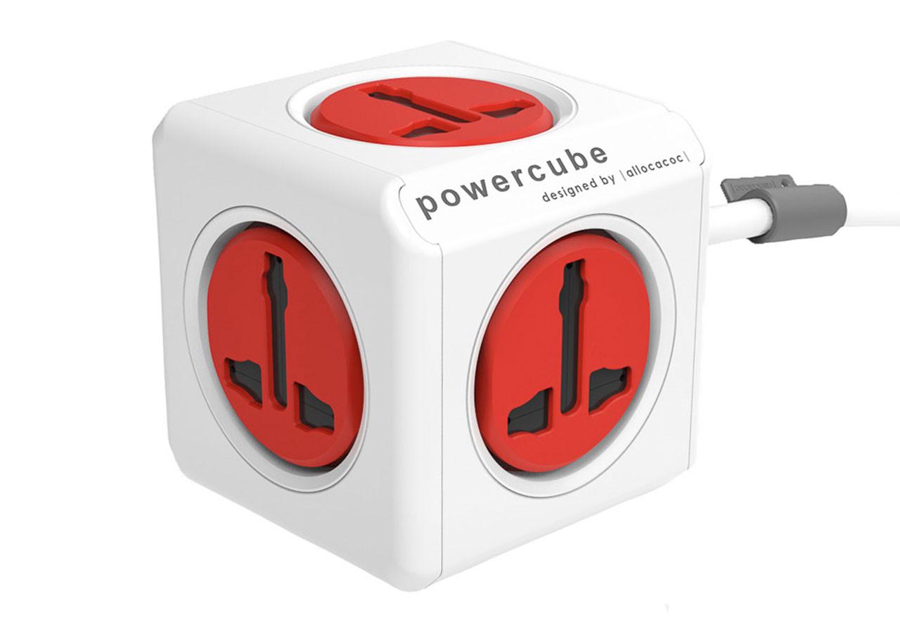 Универсален Разклонител Power Cube 10532RD - 5 гнезда - 1.5м кабел