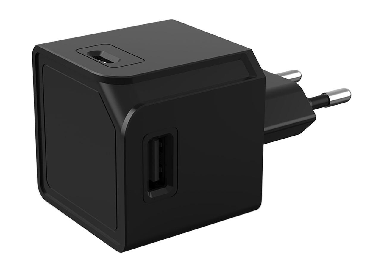 USBcube 10466BK - 2 x USB-A + 2 x USB-C - ЧЕРЕН