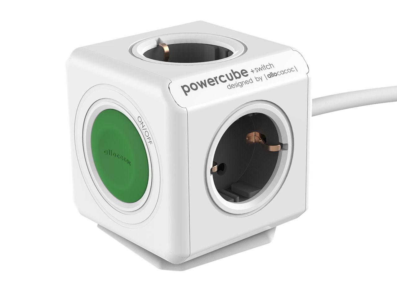 Разклонител Power Cube 1301 4 гнезда + бутон - 1.5м кабел