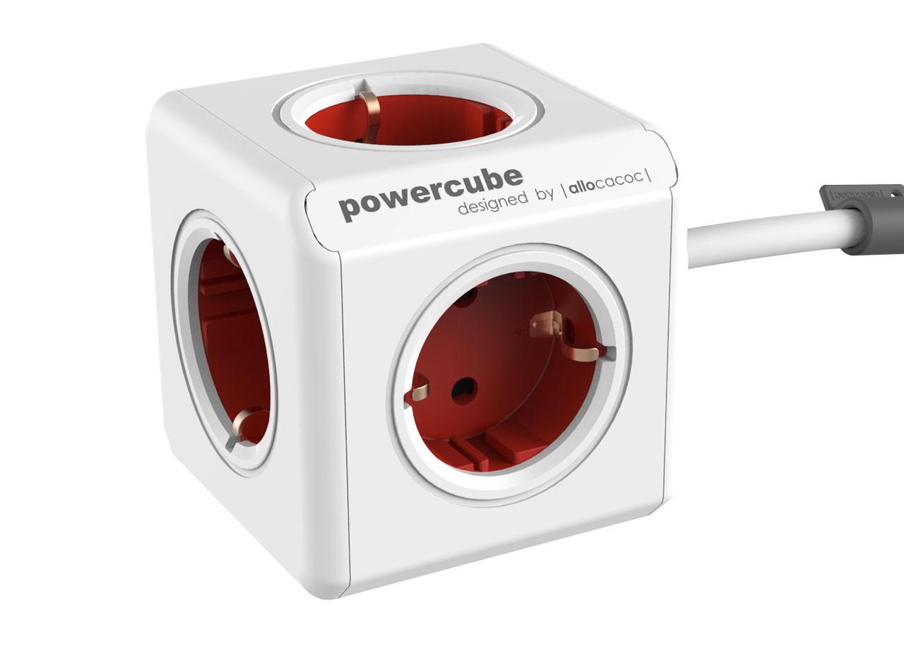 Разклонител Power Cube 1300RD 5 гнезда - 1.5м кабел