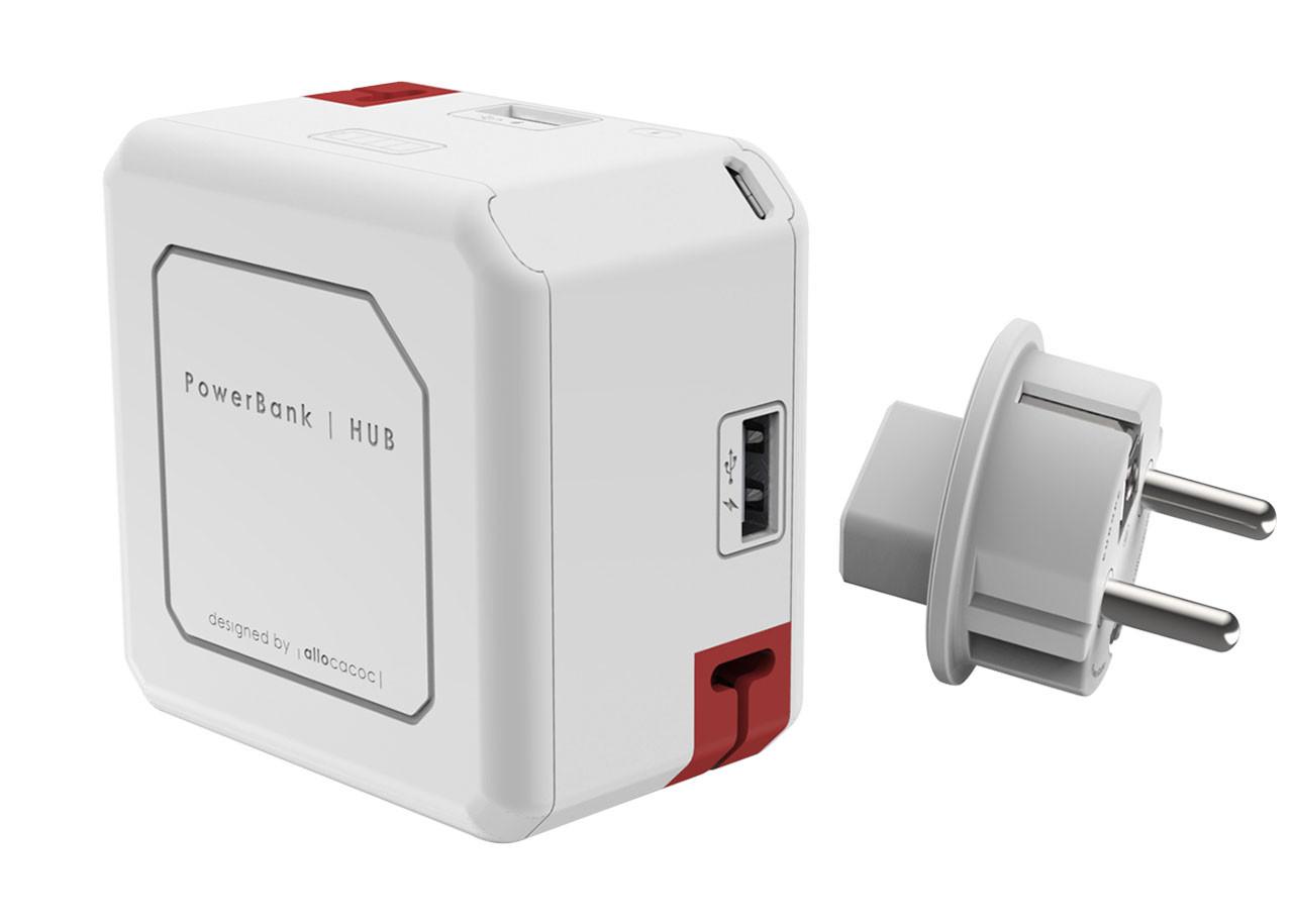 USB hub 9402 - 4x USB - 1x MicroUSB - батерия 5000mAh