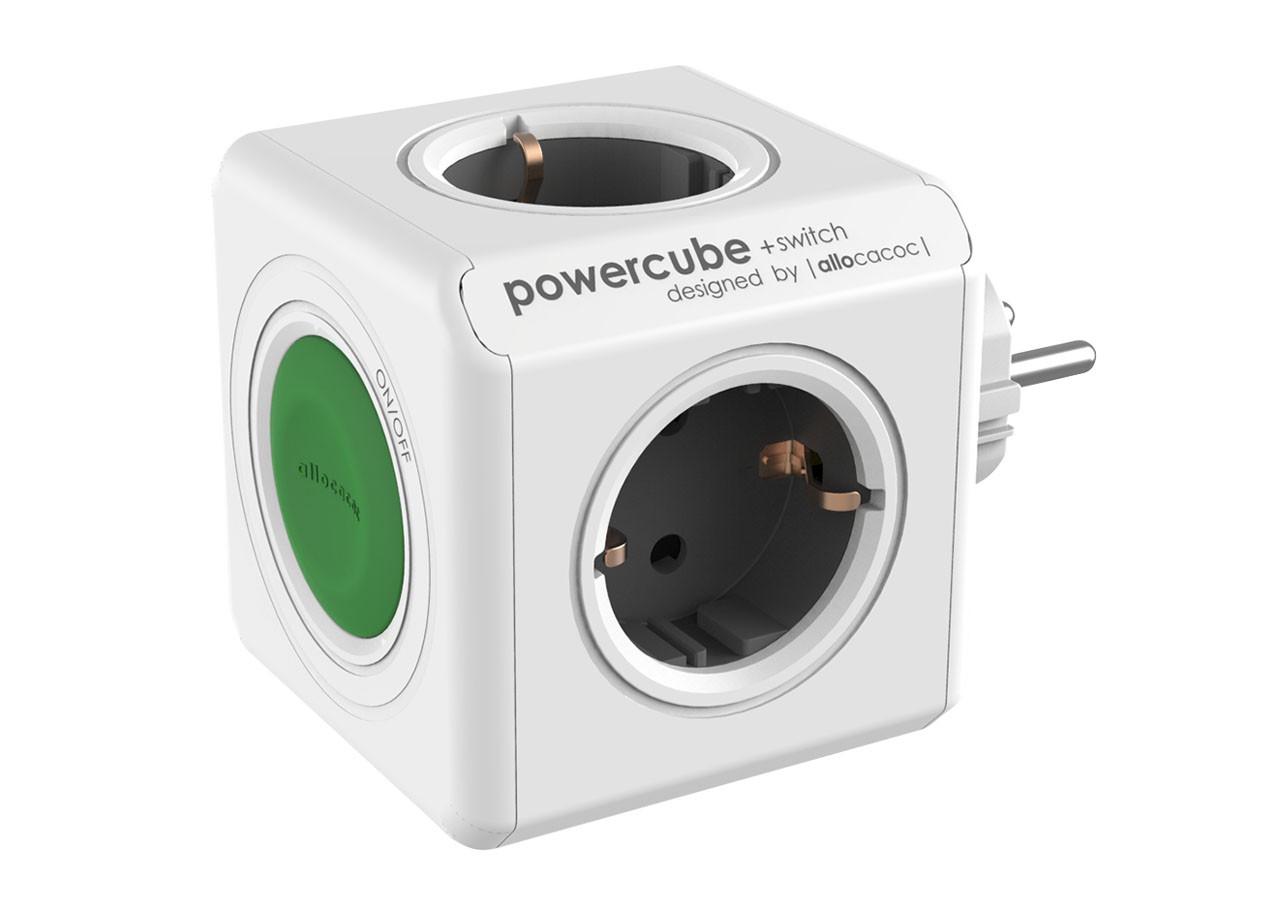 Разклонител Power Cube 1101 4 гнезда + бутон