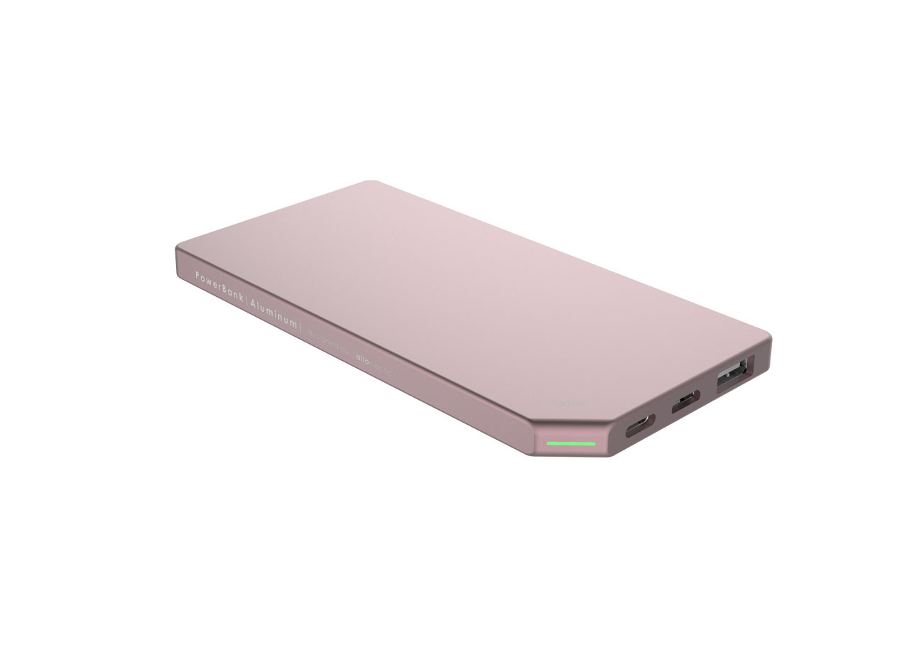 PowerBank Slim 10528PK Алуминий 5000mAh Розов
